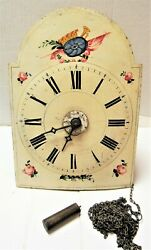 ANTIQUE GERMAN WAG ON WALL CLOCK  - 2 BELL STRIKE - AS FOUND