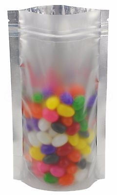 100 Silver/Clear Stand Up Pouches - 5