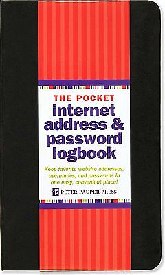 Pocket Sized Internet Address And Password Logbook Diary 144 Pages