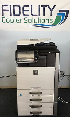 Sharp MX-4110N Color Multifunction Network Print Scan Copy Fax Finisher -