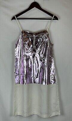 MM6 Maison Margiela Dress Size:42 (Italy), Purple Metallic Made Italy NWT