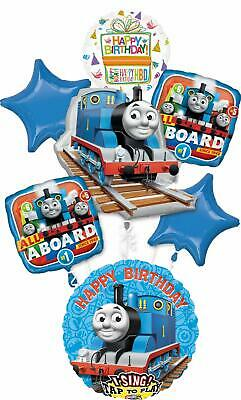 Thomas the Train Party Supplies Birthday Sing A Tune Tank Engine Balloon Bouq...