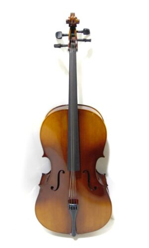 Student Full Size Cello with Case, Antique Fade, by Gear4music-DAMAGED-RRP £229