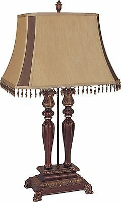 New Poly Resin Crystal Shade Traditional Candelabra Table Lamp