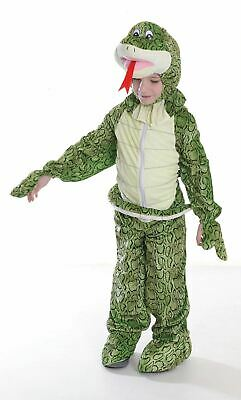 Snake Girl Costume (Boy Girl Snake Costume Kids School Book Week Fancy Dress Story Oufit)