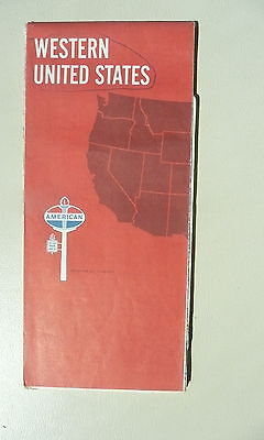 1968 Western United States  road  map American Oil gas