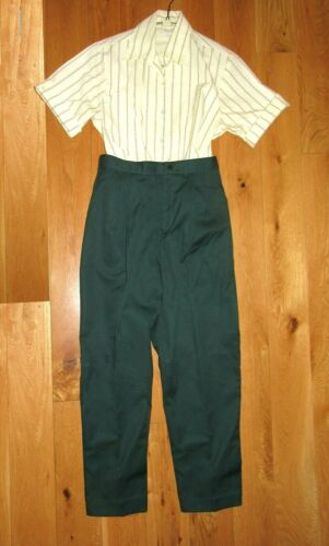 1990s Girl Scout ADULT OFFICIAL UNIFORM Gently Used Shirt & Pants HALLOWEEN