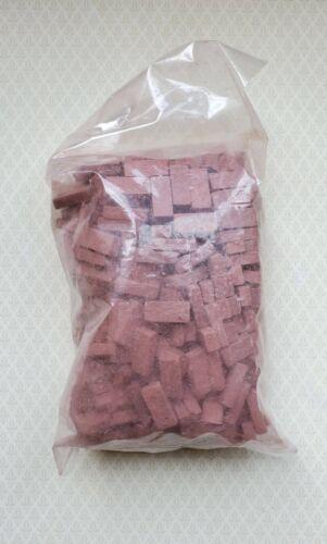 Dollhouse Miniature Bricks Red Brick Blend by Andi Mini Brick & Stone 1:12 Scale