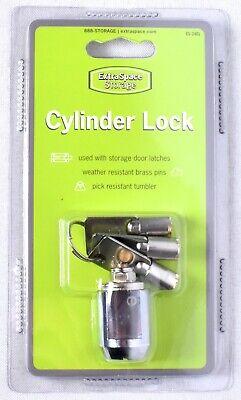 Extra Space Storage Cylinder Lock With 3 Tubular Keys Es-2401 Pick Resistant New