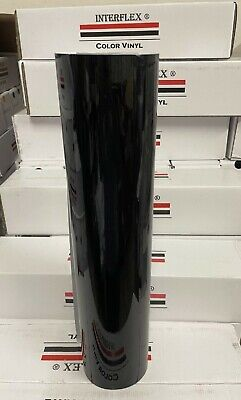 Roll Black Glossy  Vinyl 24 X 50 Yards  150 Feet  Liquidation Interflex