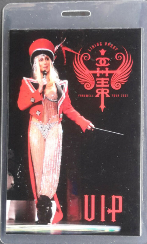 *** CHER ***  LAMINATED BACKSTAGE PASS - VIP