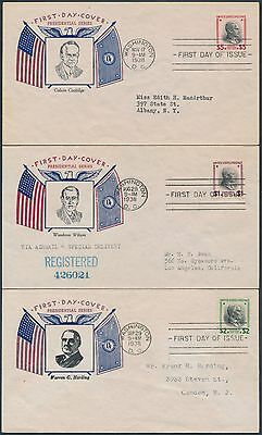 8599 Series (#832-834 #5 SET OF 3 FDC