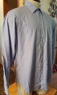 Ralph Lauren shirt stripes blue/white size 16 1/2 34/35 button down 1 pocket