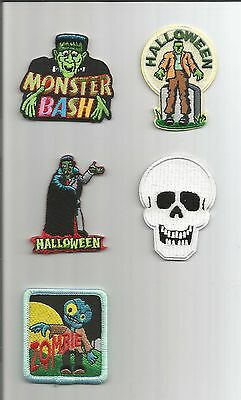 Girl/Boy Scout/Guides Patch/Crest/Badge    HALLOWEEN MONSTERS    (your choice) - Scout Halloween Crafts
