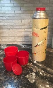 Polly Red Top Vintage Thermos