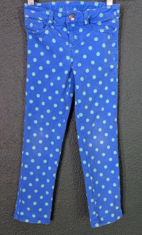 Gymboree Girls Polka Dot Pants Blue Turquoise Green Adorable Size 6