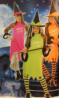 Kostüm Kinderkostüm zauberhafte Hexe Pink  Gr. - Kinder Pink Hexe Kostüm