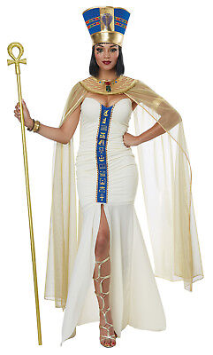 Queen of Egypt Nile Nefertiti Cleopatra Women Costume (Costume Of Cleopatra)