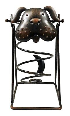 Iron Dog Wine Bottle Swing Holder by Kitchen Wine and Home