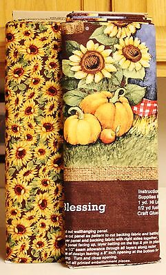 Harvest Blessings Scarecrow Panel & Sunflowers SOLD SEPARATELY  (Scarecrow Crafts)