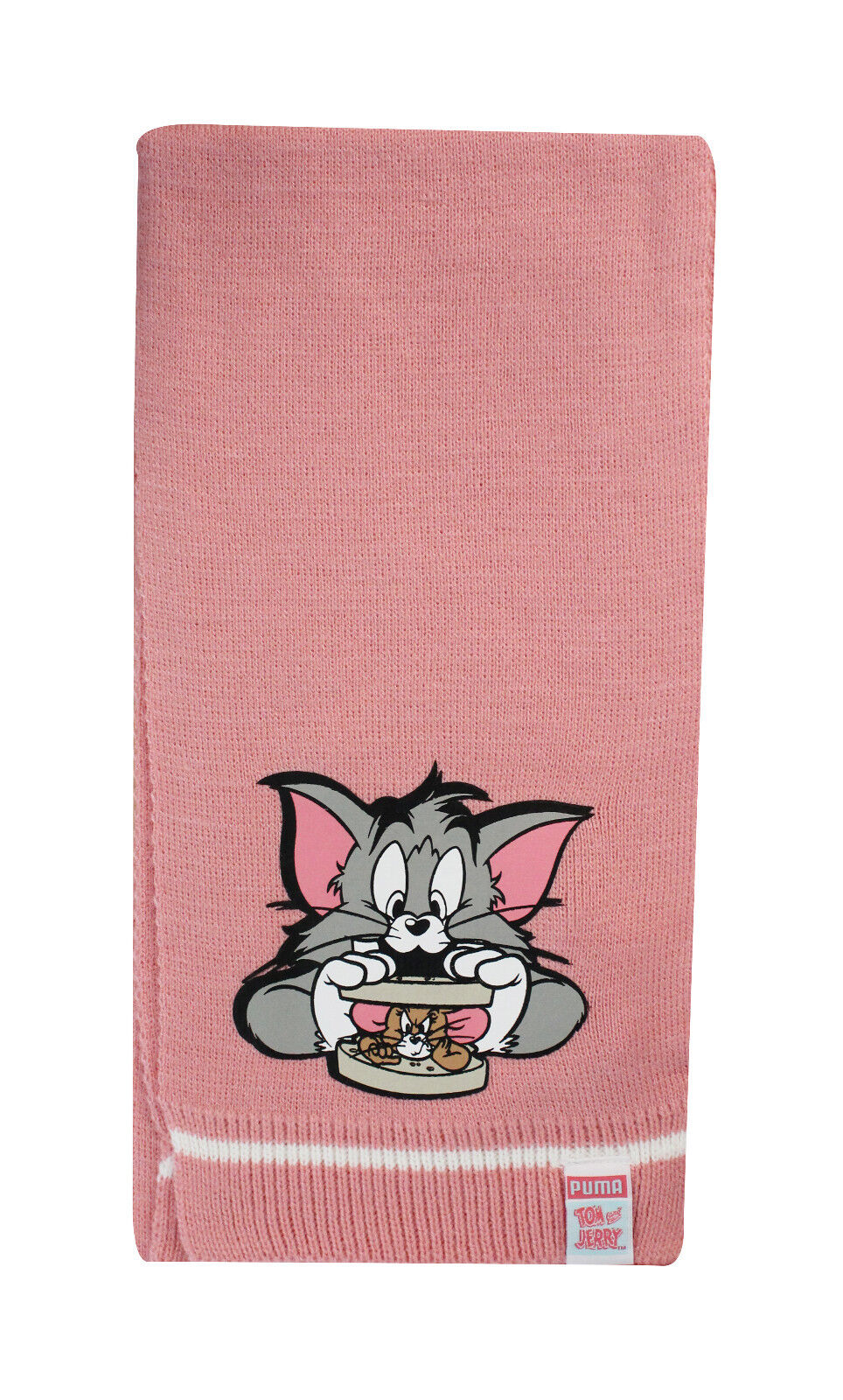06f841fb91a5 Puma Active Knit Tom and Jerry Girls Kids Youths Scarf Pink 052805 ...