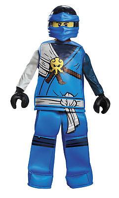 Jay Prestige Child Blue Costume Lego Ninjago Halloween Dress Up Disguise - Blue Jay Halloween Costume