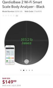 Brand New Sealed - QardioBase 2 Wi-Fi Smart Scale Body - Black