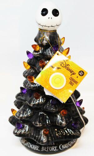 Disney The NIghtmare Before Christmas Jack Skellington Light Up Ceramic Tree New