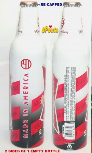 BUDWEISER MADE IN AMERICA PA ALUMINUM BOTTLE BEER CAN BUD NO-REDEMPTION! #502182