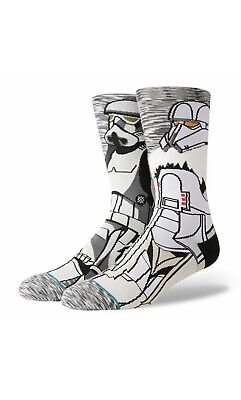 Imperial Stormtrooper Empire Star Wars x Stance Socks Large Men's 9-12 Troop