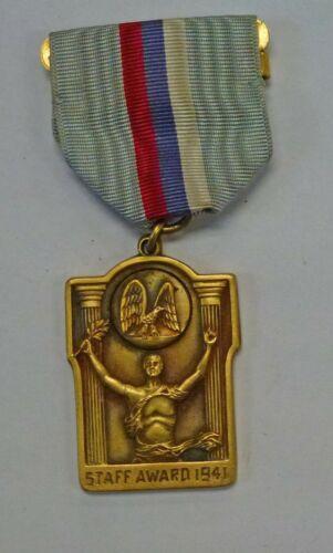 VINTAGE 1941 AMERICAN LEGION Staff Officer Award Medal with Ribbon Original Box