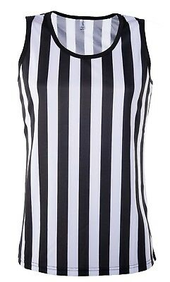 Referee Tank Top for Women | Referee Uniform Top for Waitresses Shirt Costume  (Top Costumes For Women)