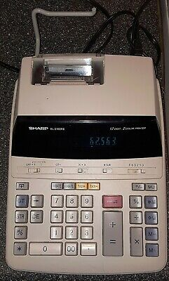Sharp EL-2192RII Accounting Calculator 12 Digits 2 Color Printing TESTED