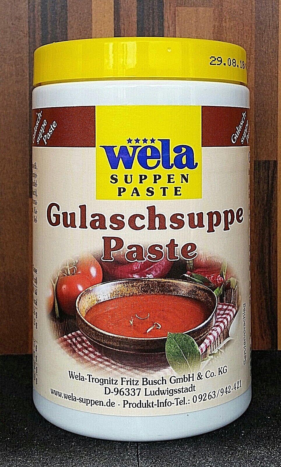 Wela-Gulaschsuppe Paste Dose für 5 Liter Wasser