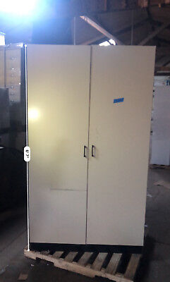 Tall Laboratory Storage Cabinet With Shelves And Swinging Doors 80x46x19