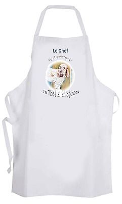 ITALIAN SPINONE DOG NEW APRON DESIGN KITCHEN ACCESSORY SANDRA COEN ARTIST PRINT