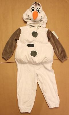 Disney Unisex Toddler's L/S Frozen 2 Olaf Plush Costume DD5 White Size 4T NWT