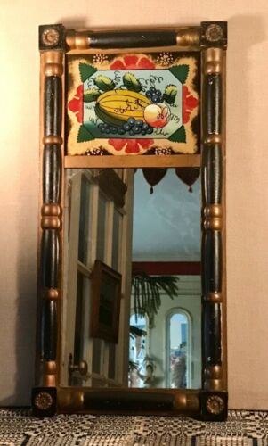 Antique Sheraton Mirror with Reverse Painting New England, c.1830