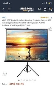 "Brand new 100"" Projection Screen (Indoor& outdoor use)"