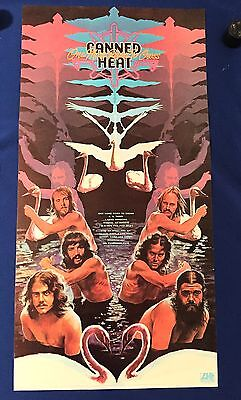 RARE vintage 1973 Canned Heat One More River LP PROMO POSTER Atlantic 18x36in