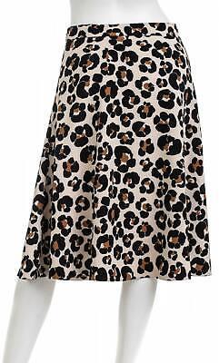 ANN TAYLOR FACTORY Animal Print A-Line Skirt