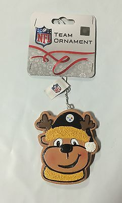 Pittsburgh Steelers Gingerbread REINDEER Christmas Tree Holiday Ornament NEW