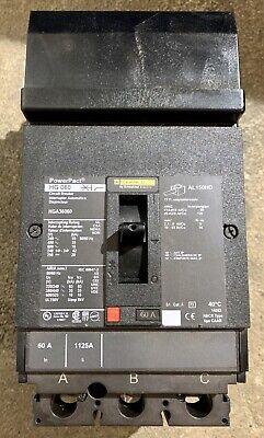 New Without Box Square D Hga36060 3p I-line Circuit Breaker 60 Amp 600vac