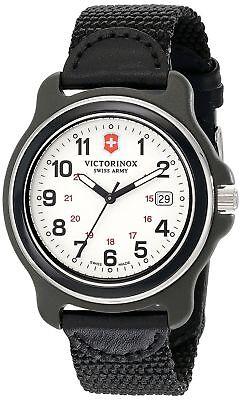 Victorinox Swiss Army Original White Dial Black Nylon Strap Men's Watch 249086