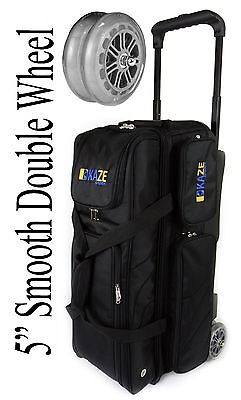 2b5bd6b8f4 KAZE SPORTS Flagship 3 Ball Bowling Roller Tote Bag with Double Smooth PU  Wheels
