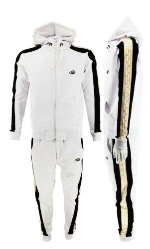TiM Designer Slim Fit Urban Wear Tracksuit Zip Up Top & Matching Jogger 2pcs Set