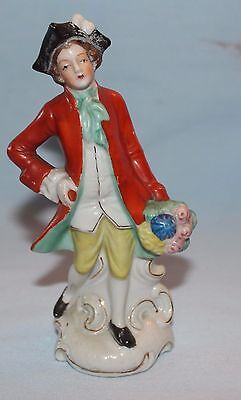 figurine Japan colonial man with suitor bouquet 1700s clothing French? (Colonial Clothing Men)