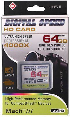 Digital Speed 4000X 64GB Professional High Speed Mach III 600MB/s Error Free CF