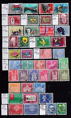 Schweiz 177 - 1957/60 - Auswahl 637-723 -  Gest.