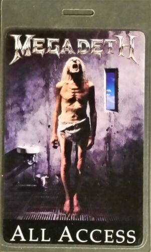 ******** MEGADETH ******** ALL ACCESS --- LAMINATED BACKSTAGE PASS --- 1992 TOUR